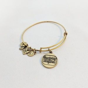 "Alex and Ani Jewelry - Alex and Ani Gold ""'Completely Blessed"" Bracelet"
